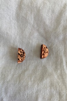 Hey Ronnie Chunky Copper Glitter Earrings