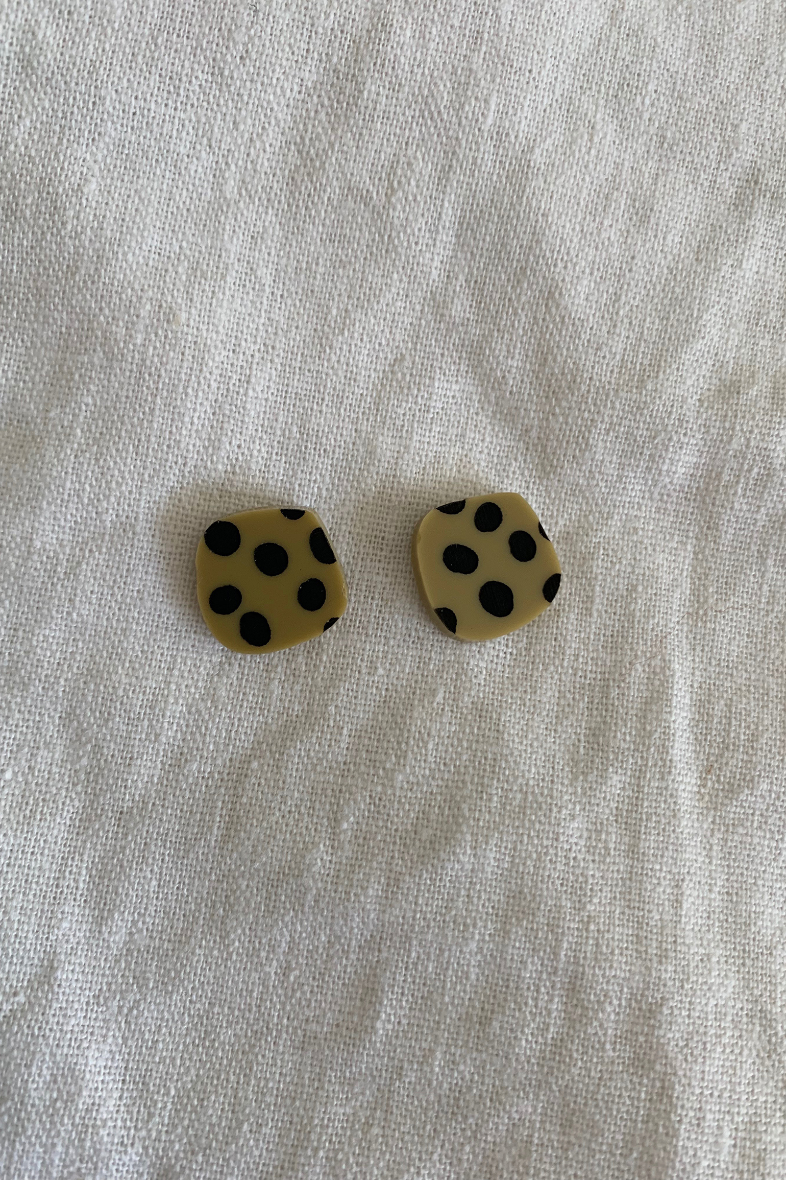 Hey Ronnie Organic Square Spot Earrings