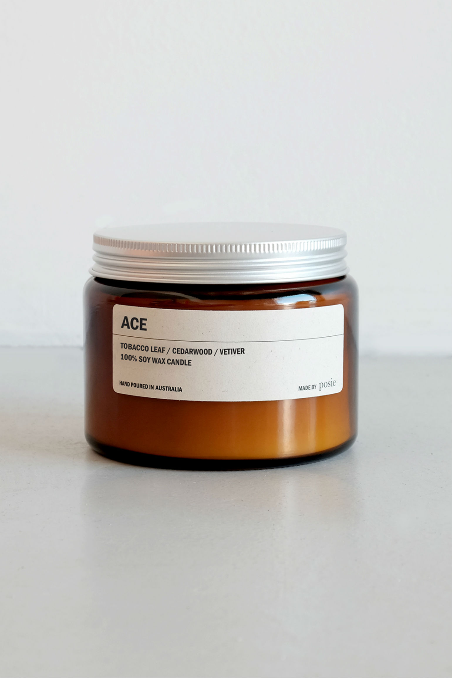 We are Posie 500g Amber Jar Soy Candle ACE