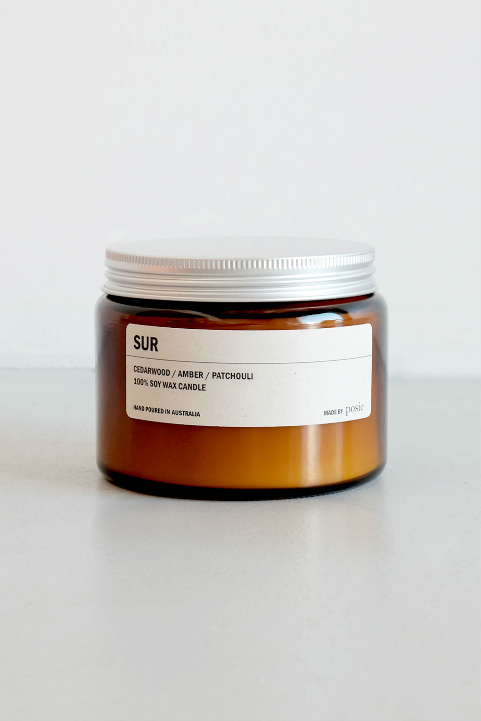 We are Posie 500g Amber Jar Soy Candle SUR