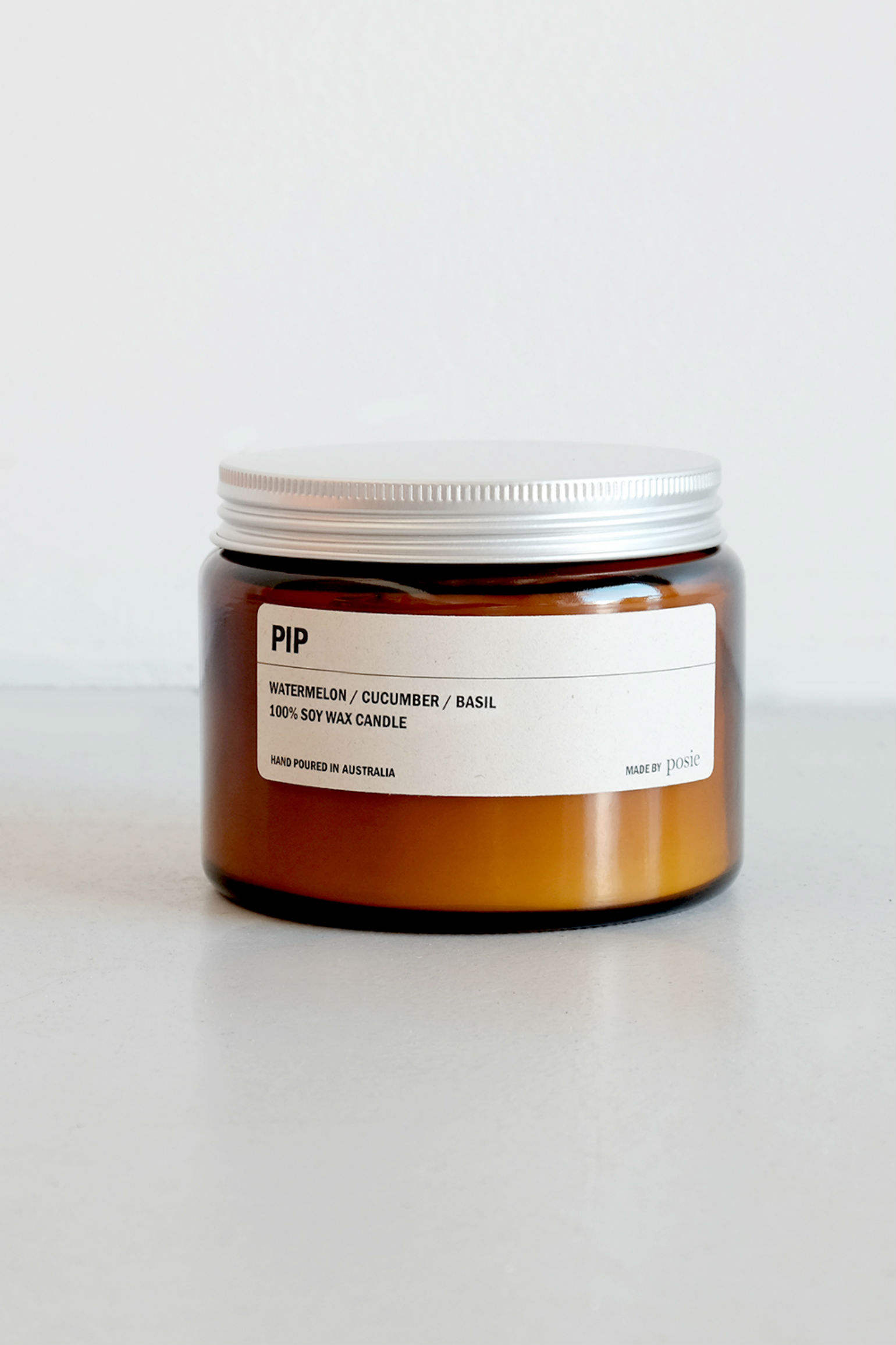 We are Posie 500g Amber Jar Soy Candle PIP