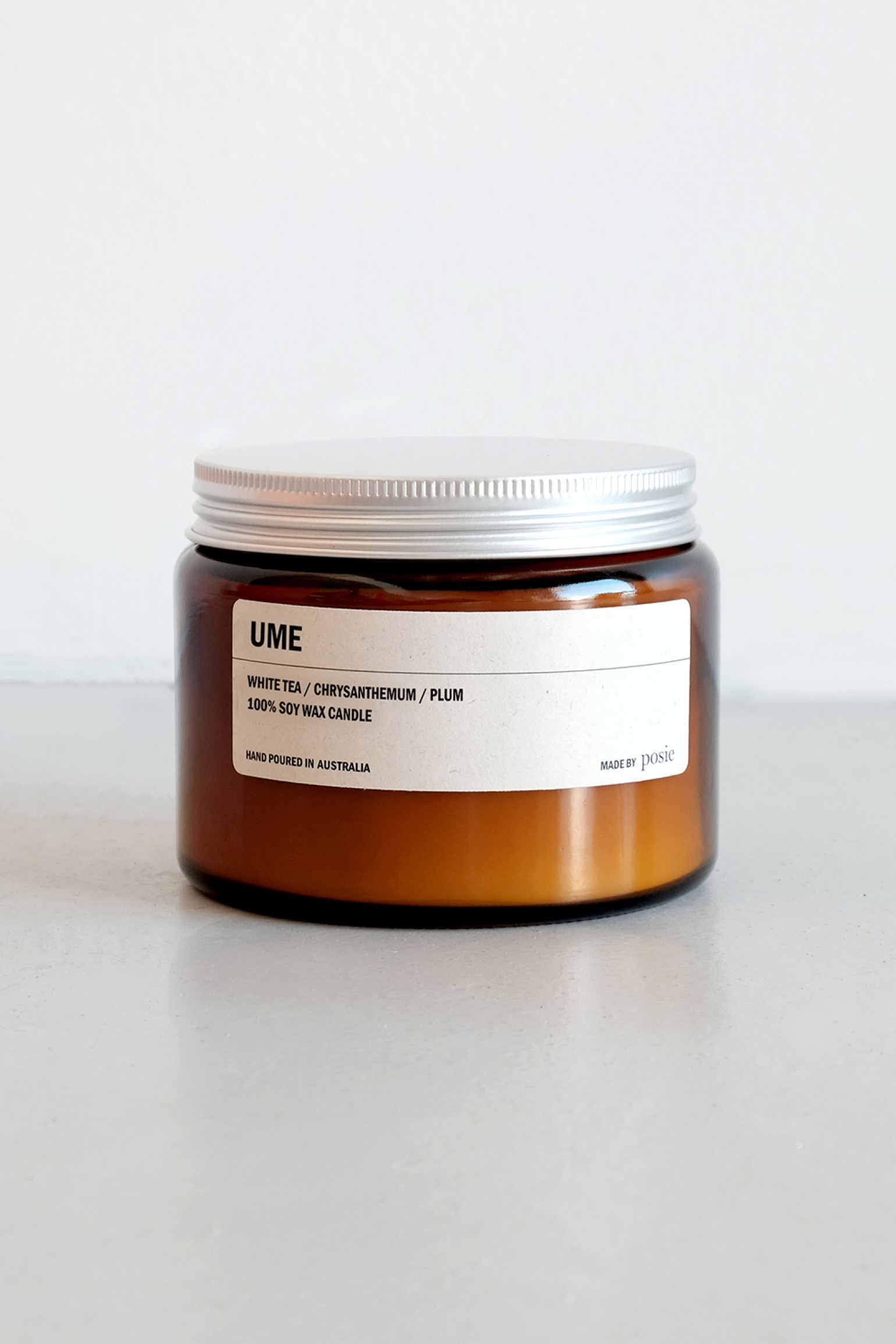 We are Posie 500g Amber Jar Soy Candle UME
