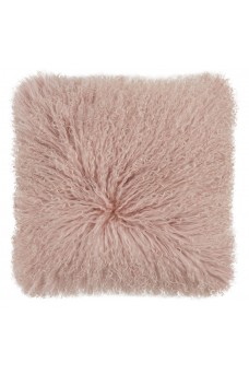 Mongolian Sheepskin Cushion Rose Pink