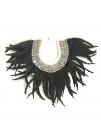 Alilia The Label Black Feather Wall Hanging