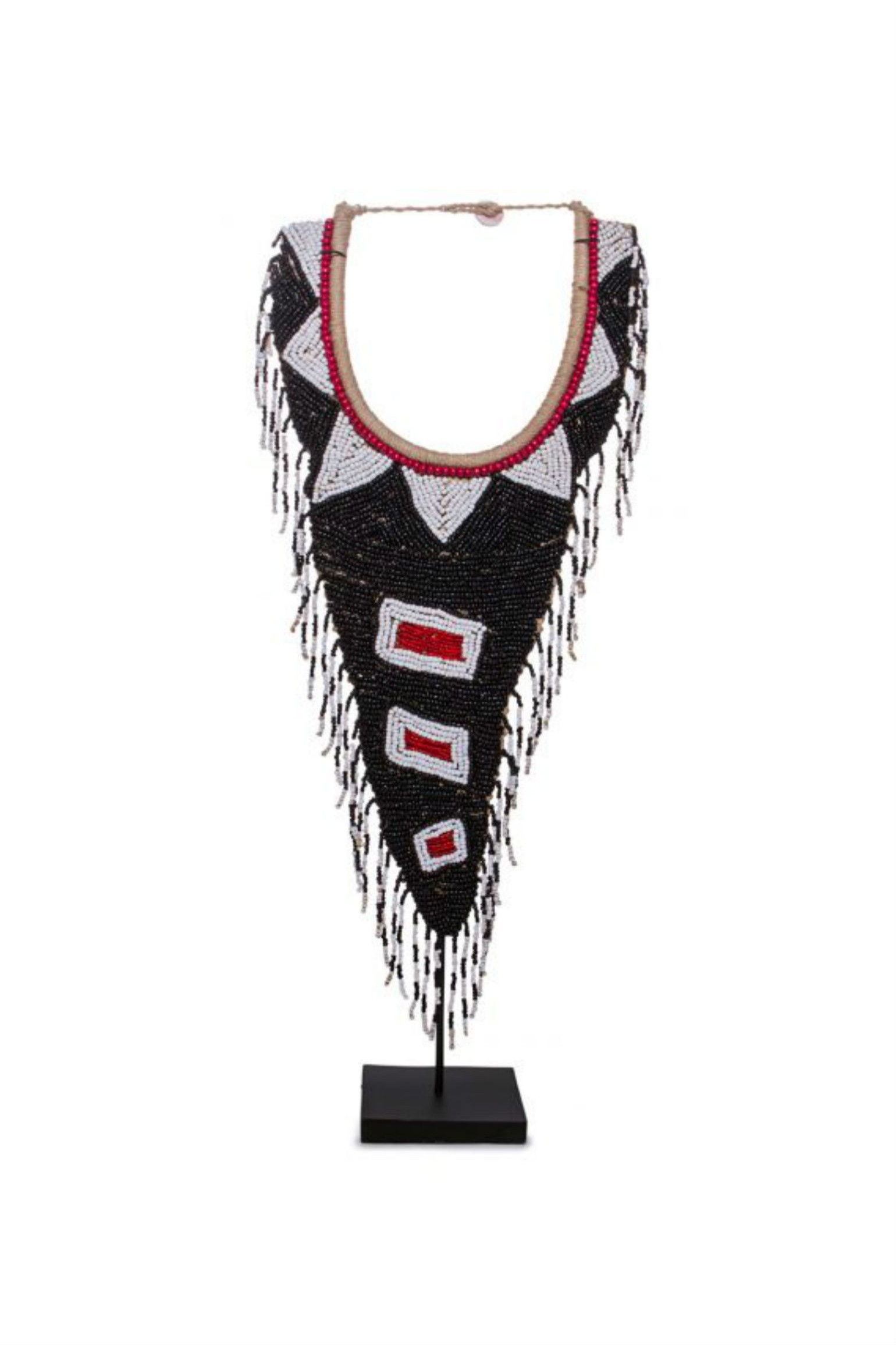 Beaded Necklace on Stand
