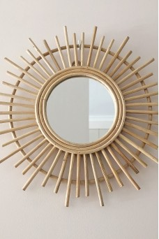 One Fable Burst Rattan Mirror