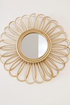 One Fable In Bloom Rattan Mirror