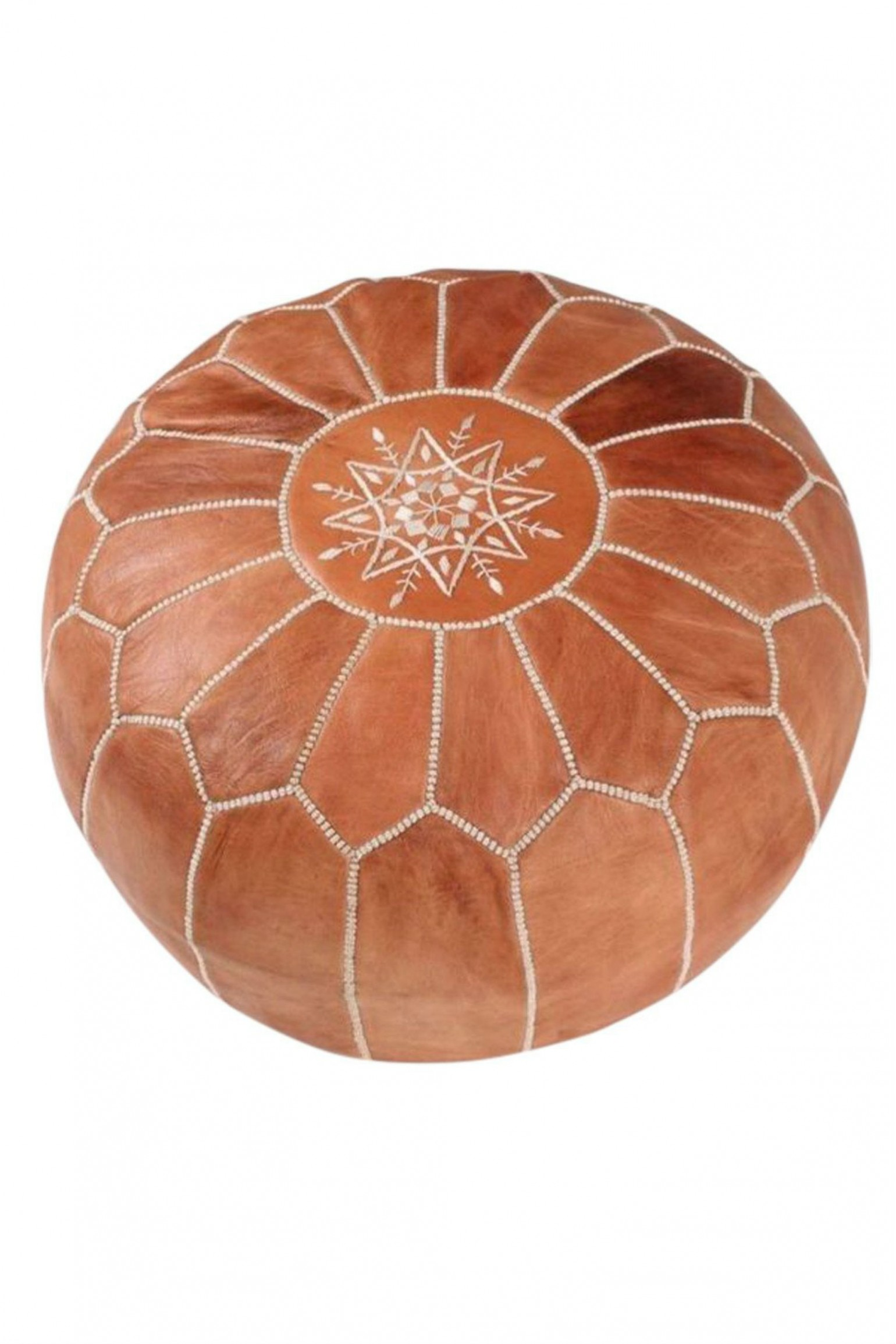 Maison and Maison Moroccan Leather Pouffe